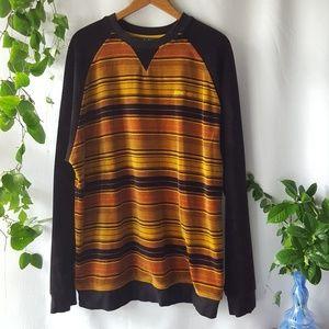 Sean John velour striped sweatshirt sz XL
